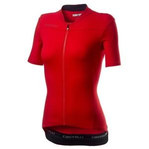 Maglia Castelli Woman Anima 3 Jersey Red/Black