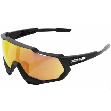 Occhiale 100% SPEEDTRAP Soft Tact Black - HiPER Red Mirror Lens