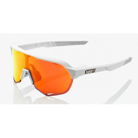 Occhiale 100% S2 Soft Tact Off White - HiPER Red Mirror Lens