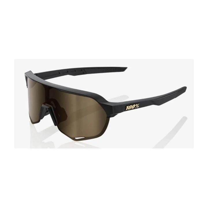 Occhiale 100% S2 Soft Matte Black - Soft Gold Lens