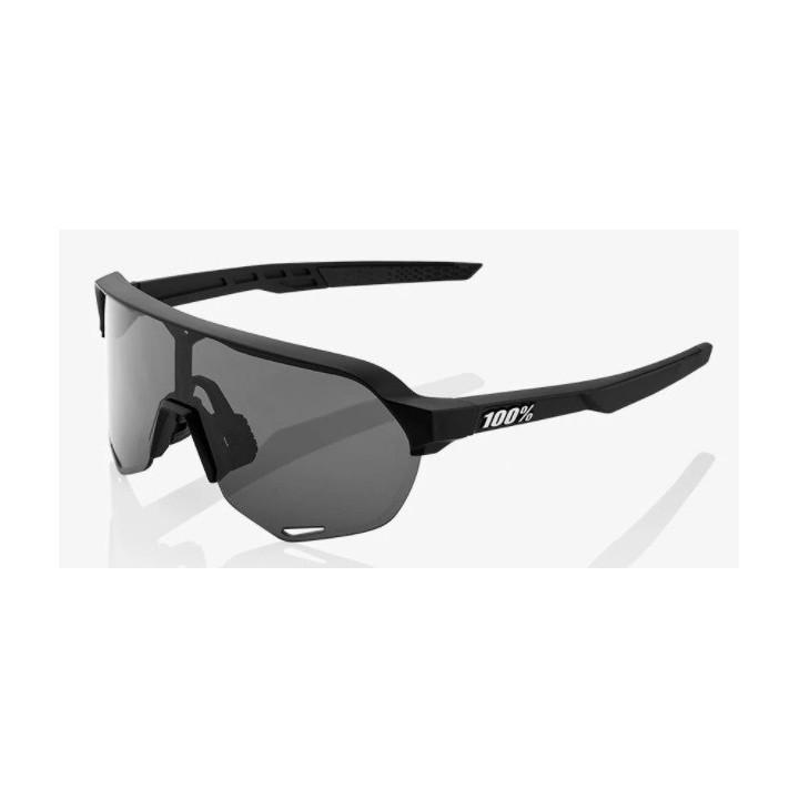 Occhiale 100% S2 Soft Tact Black - Smoke Lens