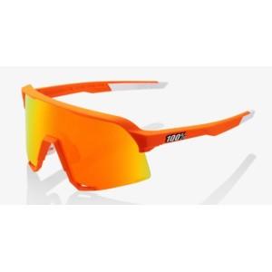 Occhiale 100% S3 Neon Orange - HiPER Red Mirror