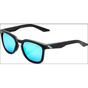 Occhiale 100% HUDSON Matte Black - HiPER Blue Mirror Lens