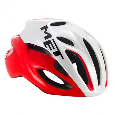 Casco Met Rivale Red-White