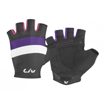 Guanti Corti Liv Race Day Tg.M Black-Purple-Hot Pink