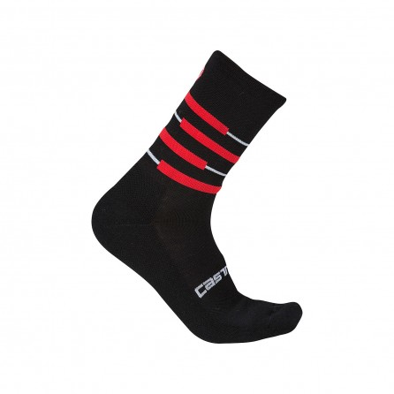 Calze Castelli Incendio 15 Black-Red Unisex