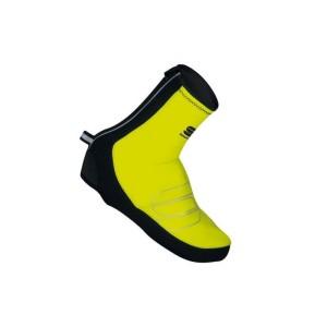 Copriscarpe Sportful Windstopper Bootie Reflex Gore Tg. M Giallo Fluo