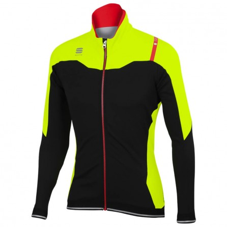 SPORTFUL FIANDRE NORAIN JACKET WINTER BLK/YELLOW FLUO MAN TG. L