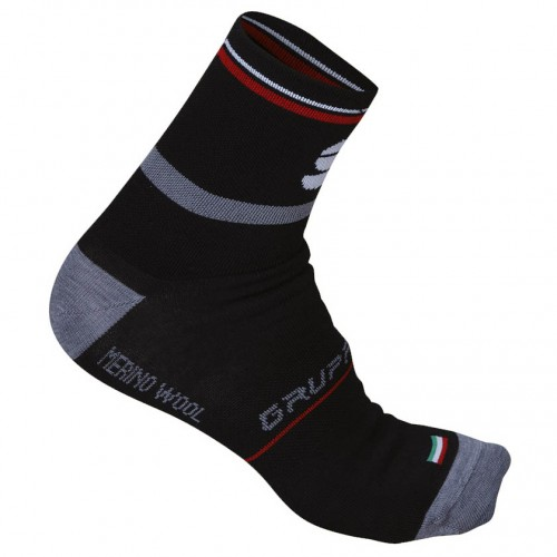 SPORTFUL CALZA INVERNALE GRUPPETTO 13 WOOL BLK/RED 44/46