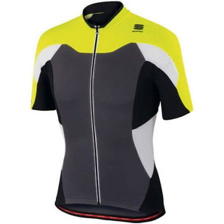 SPORTFUL MAGLIA M/C CRANK JERSEY SUMMER MAN ANTHRA/YELLOW F/BLK TG. S