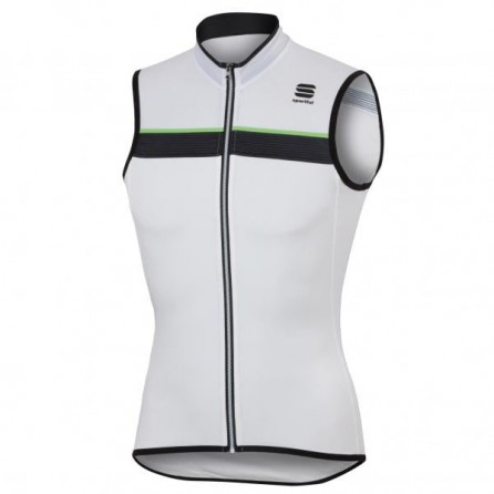 SPORTFUL PISTA SLEEVELESS MAGLIA CICLO SUMMER TG.XL WHT/BLK/GREEN FLUO