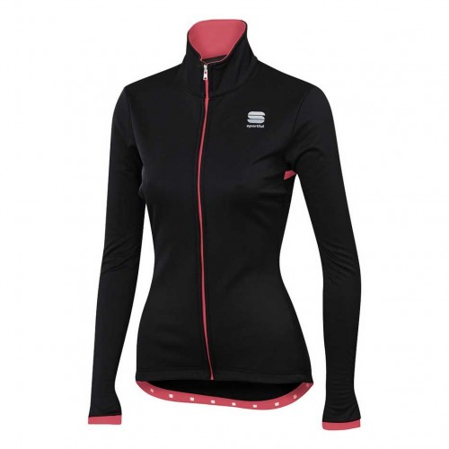 SPORTFUL LUNA SOFTSHELL JACKET WINTER WOMEN BLK/CORAL FLUO TG. S