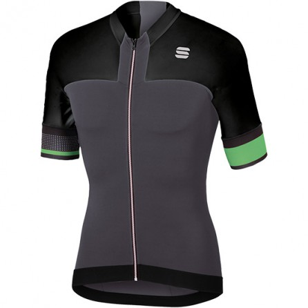 SPORTFUL STRIKE JERSEY MAGLIA CICLO ANTHRA/BLK/GREEN FLUO TG. L