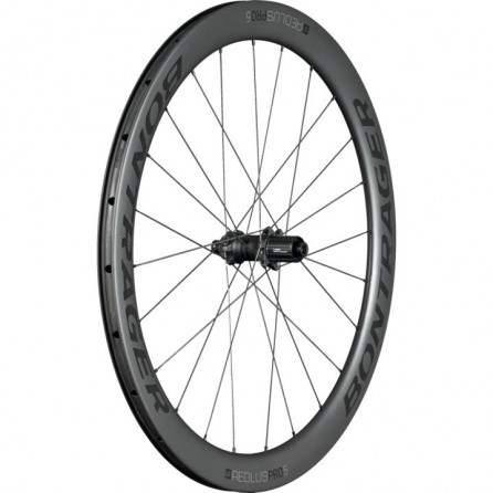 Ruota Posteriore in Carbonio Bontrager Aeolus Pro 5 Disc TLR 142 Black-Grey