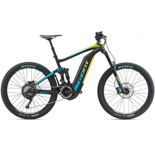 Bicicletta Giant Full-E+ 1 SX Pro 2018 Black-Teal-Yellow