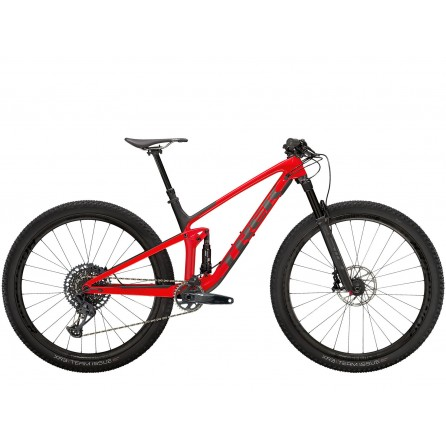 Bicicletta Trek Top Fuel 9.8 GX 2021 - Gloss Red/Matte Carbon Smoke