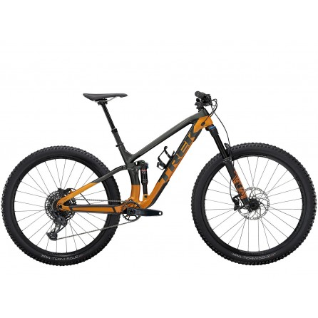 Bicicletta Trek Fuel Ex 9.7 2021 - Lithium Grey/Factory Orange
