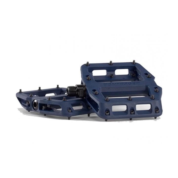 Coppia Pedali Flat Bontrager Line Elite Mulsanne Blue