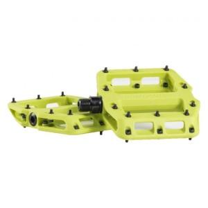 Coppia Pedali Flat Bontrager Line Elite Volt Green