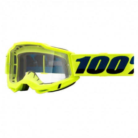 Mascherina 100% Accuri 2 Yellow Fluo - Blue