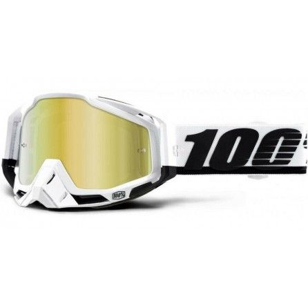 Mascherina 100% Racecraft + Lente Omaggio + 20 Tear-offs White - Black
