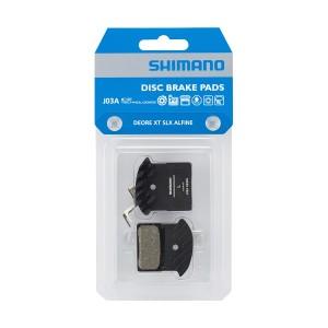 Pastiglie Freno Resina Shimano J03A con Dissipatore per XTR-XT-SLX-Alfine
