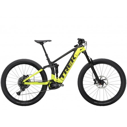 Bicicletta E-bike Trek Rail 9.7 2021 Raw Carbon/Volt Green