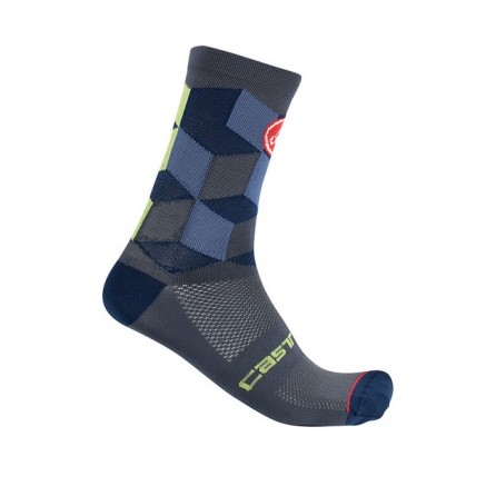 Calze Castelli Unlimited 15 Sock Dark Steel Blue