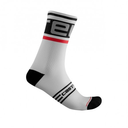 Calze Castelli Prologo 15 Sock Black-White