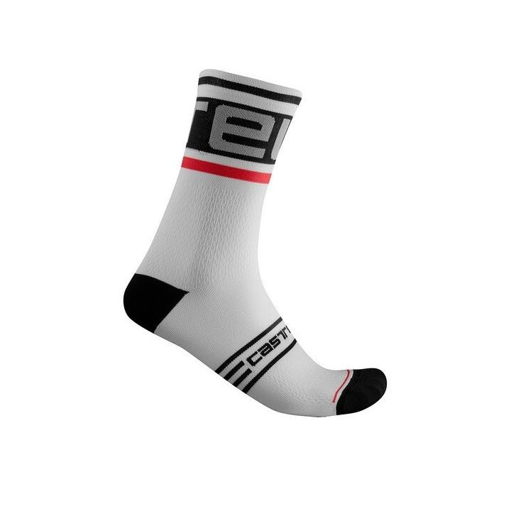 Calze Castelli Prologo 15 Sock Black-White